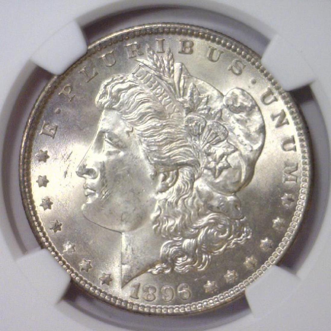 1896 Morgan Silver Dollar NGC MS63