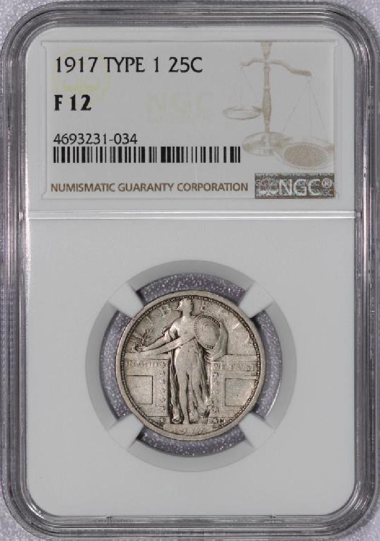 1917 Standing Liberty Quarter Type I Fine NGC F12