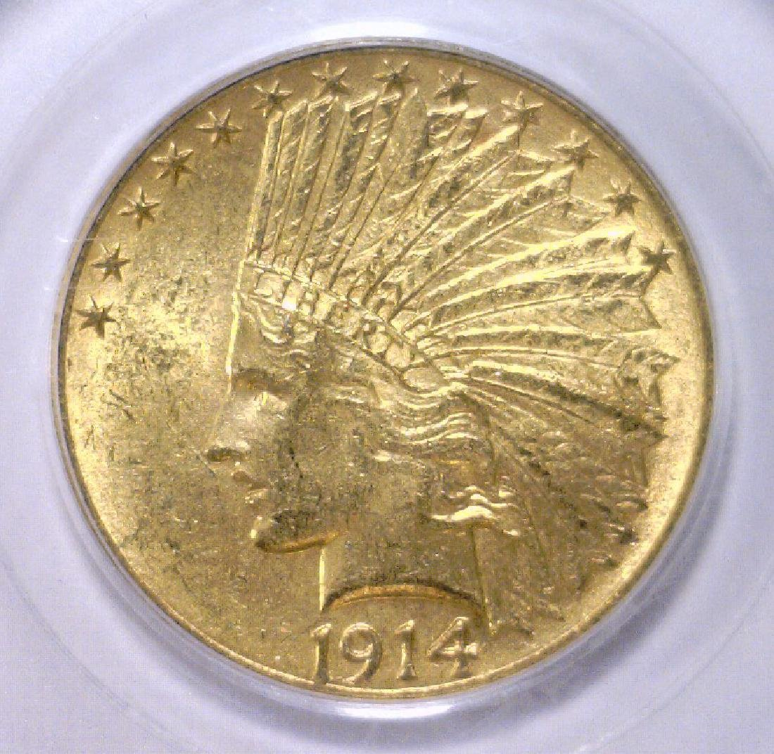 1914 $10 Indian Head Gold Eagle PCGS MS63
