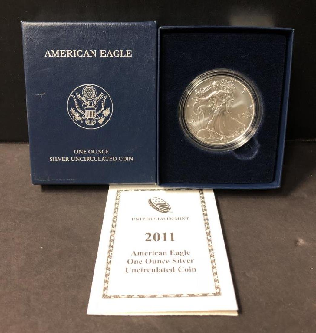 2011-W Burnished Silver Eagle with Box & COA