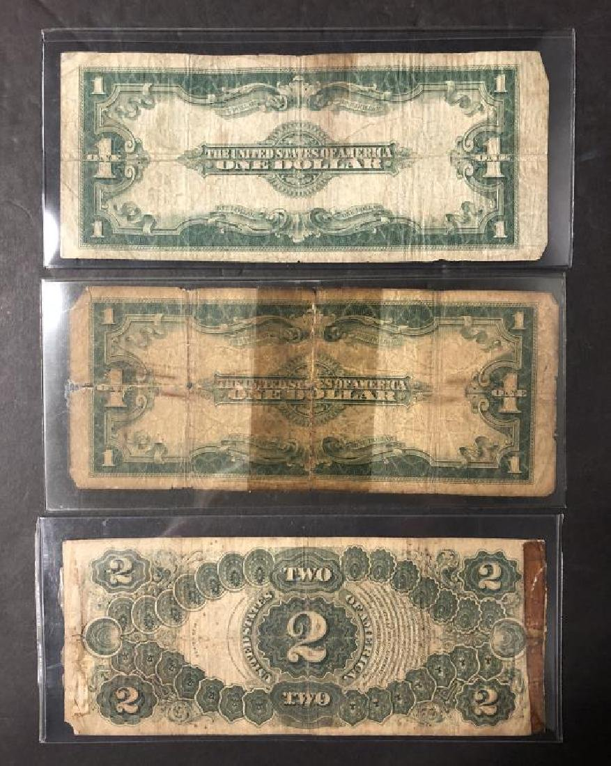 Lot of 3 Large Size Notes 2x 1923 $1 & 1917 $2 - 2
