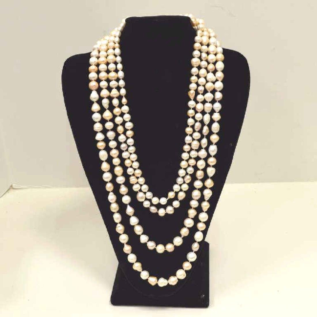 """120"""" Continuous Strand of Baroque Pearls"""