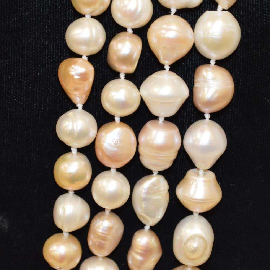 """120"""" Continuous Strand of Baroque Pearls - 2"""