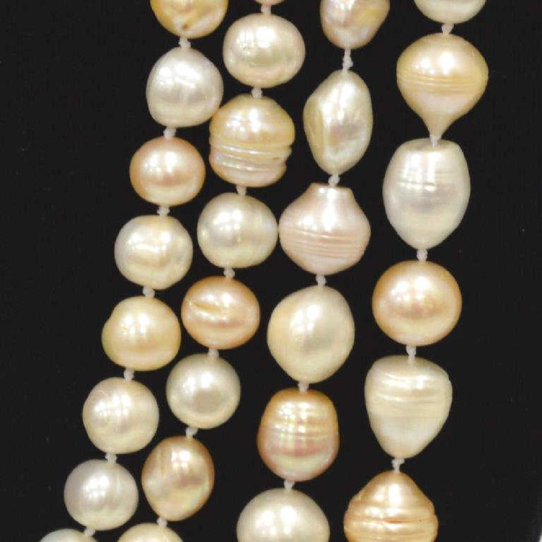 """120"""" Continuous Strand of Baroque Pearls - 3"""