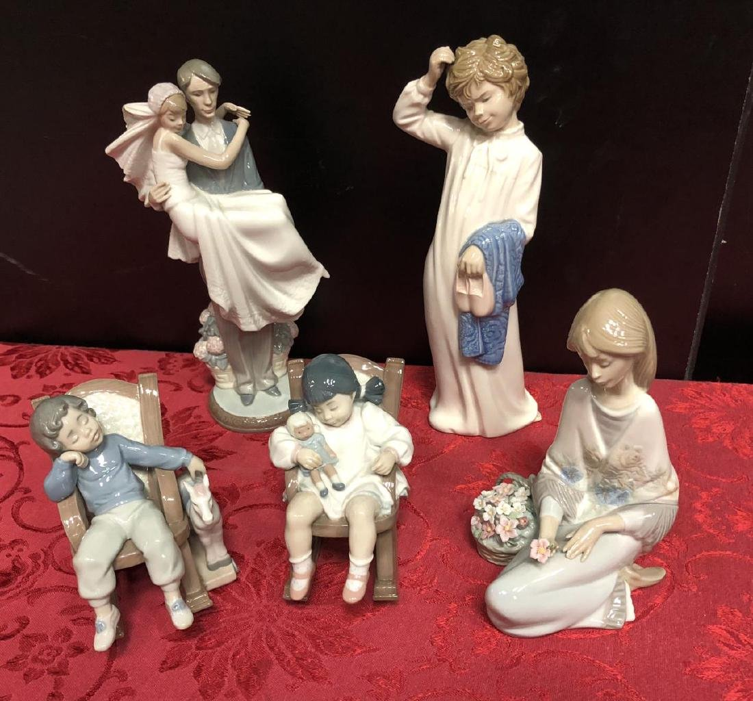 Lot of 5 Lladro & NAO Porcelain Figurines