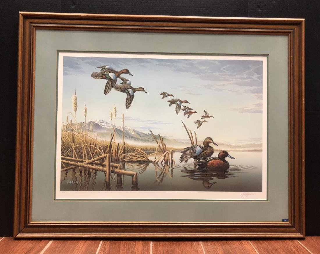 ROB LESLIE Framed S/N Signed 1987 Idaho Duck Print