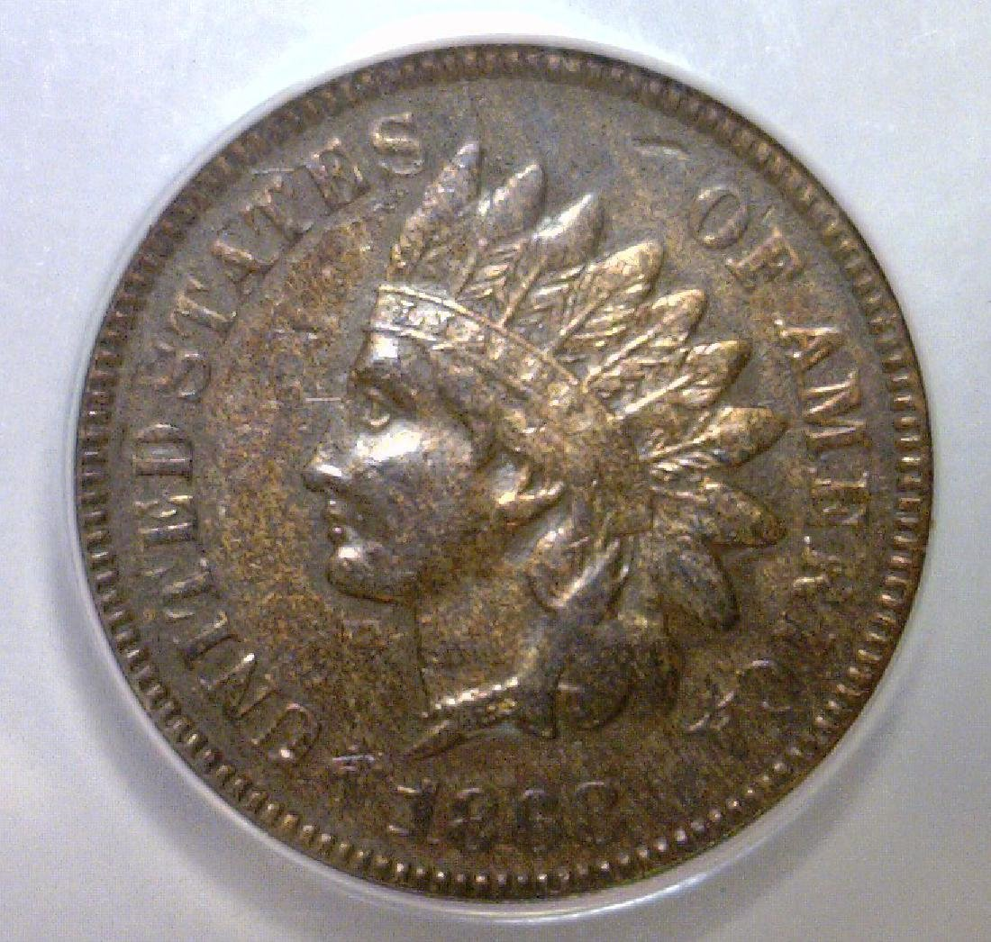 1868 Indian Head Cent ANACS XF EF40 Details