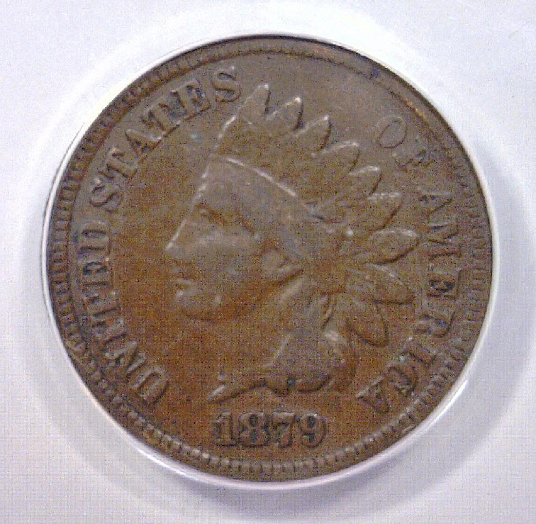 1879 Indian Head Cent ANACS VG8