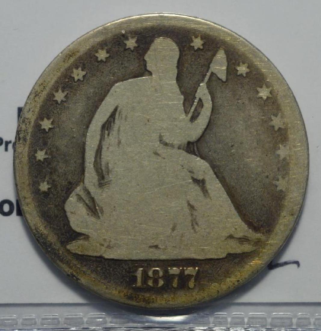 1877 Seated Liberty Half Dollar Good