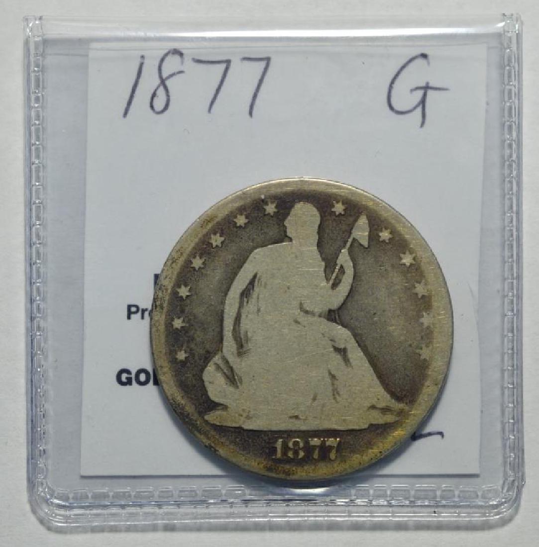 1877 Seated Liberty Half Dollar Good - 2