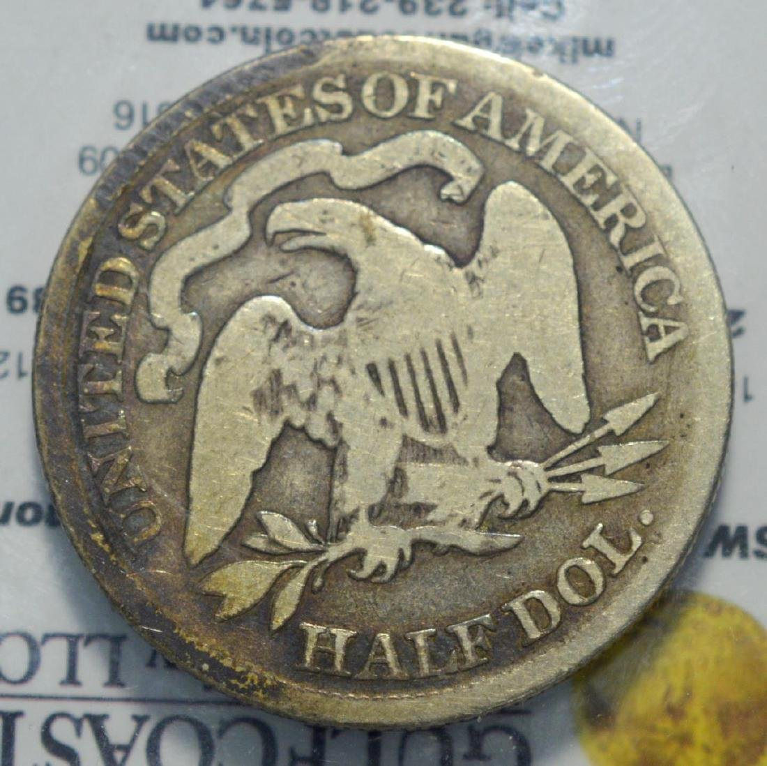 1877 Seated Liberty Half Dollar Good - 3