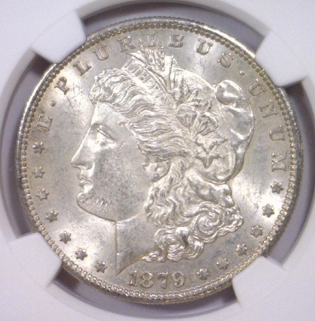 1879-S Morgan Silver Dollar NGC AU58