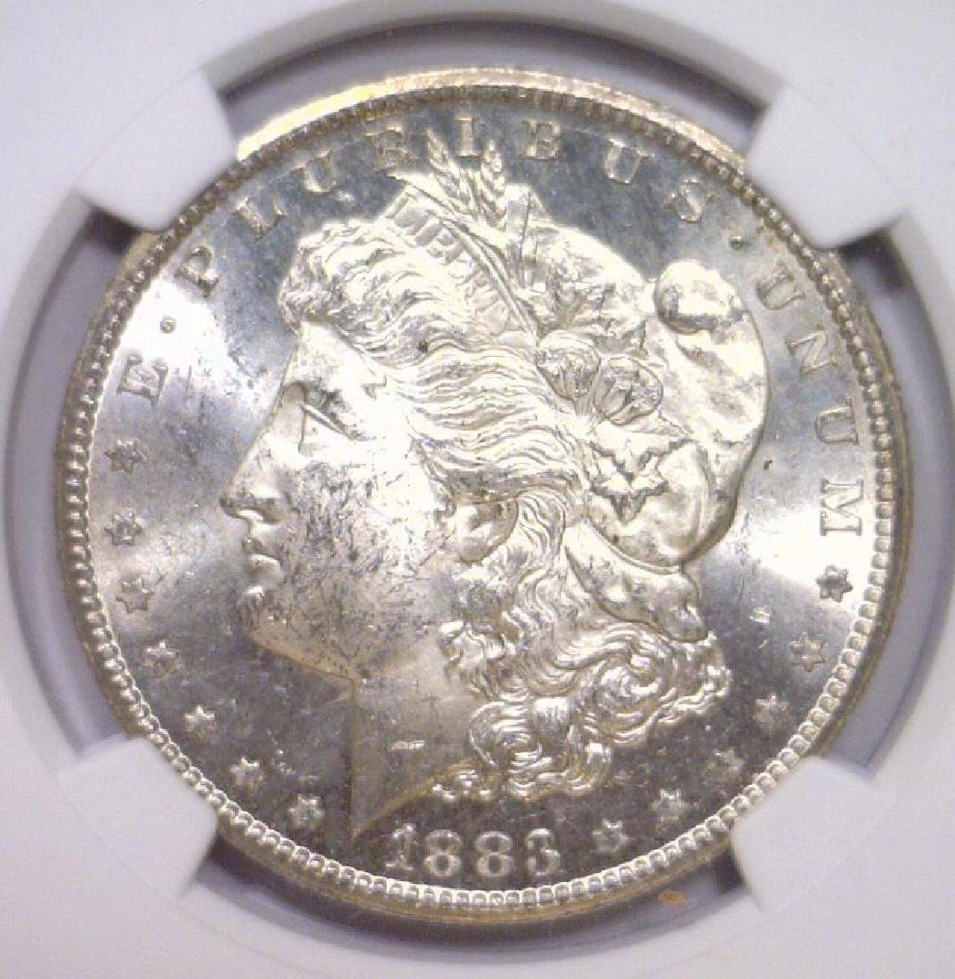 1883-CC Morgan Silver Dollar NGC MS62
