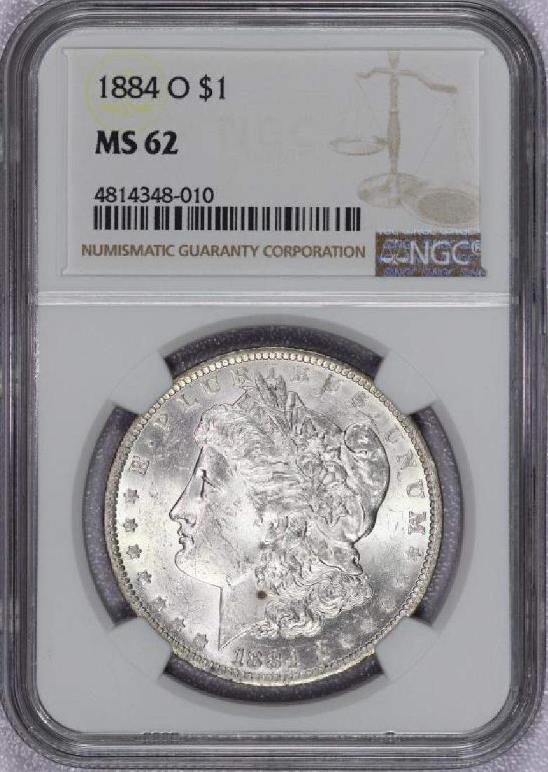 1884-O Morgan Silver Dollar NGC MS62