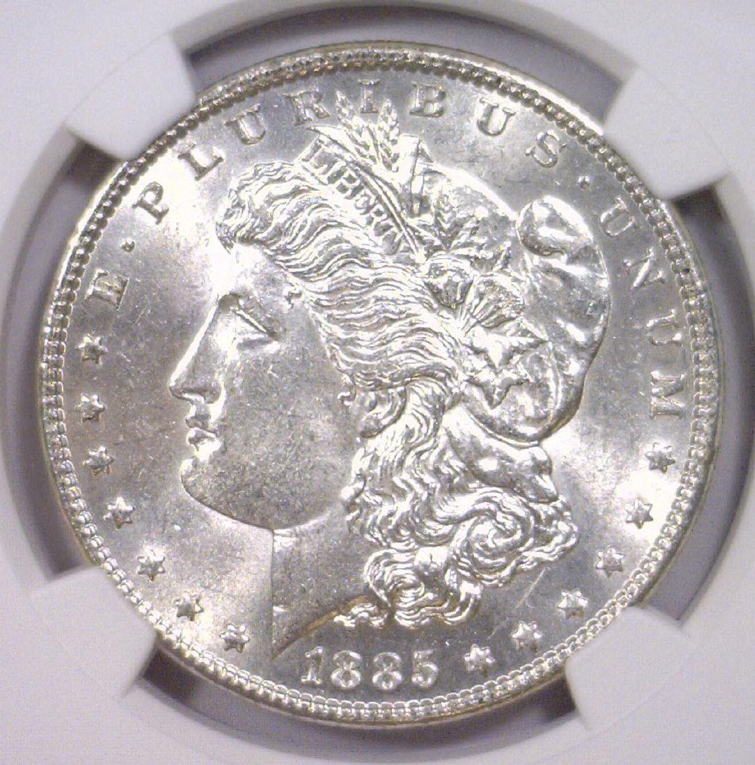 1885 Morgan Silver Dollar NGC AU58