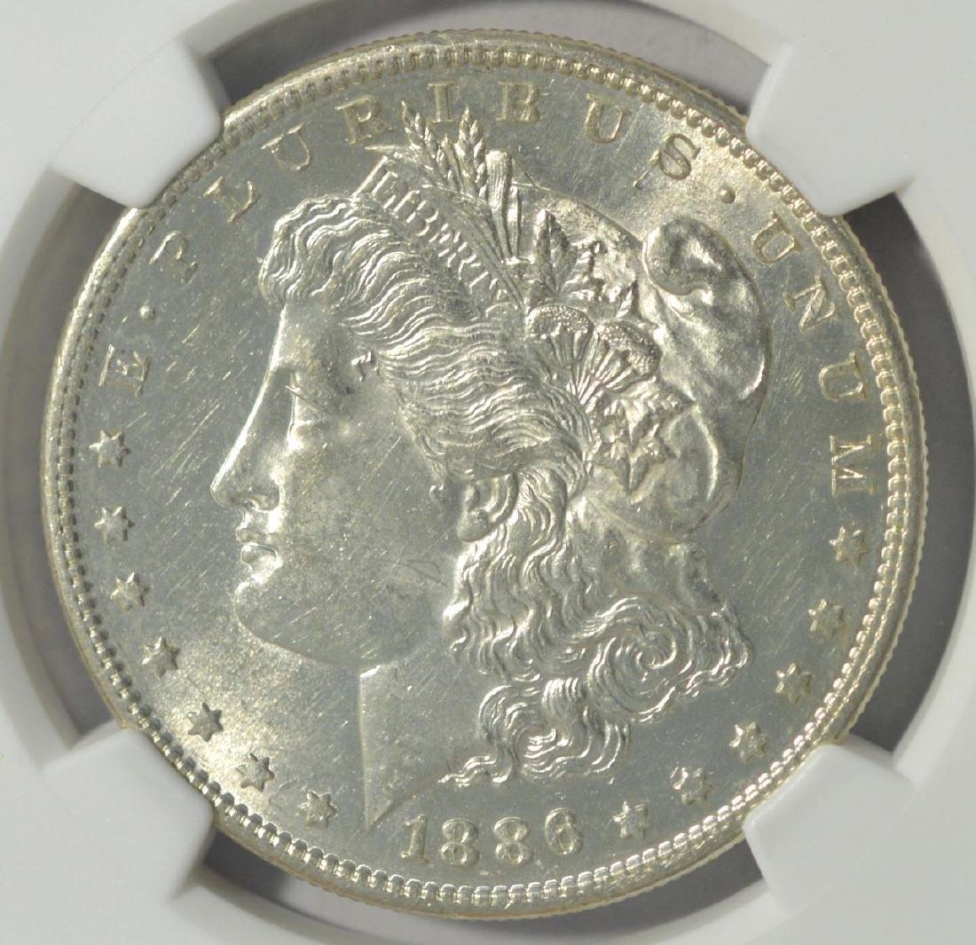 1886-S Morgan Silver Dollar NGC UNC Details RI/C