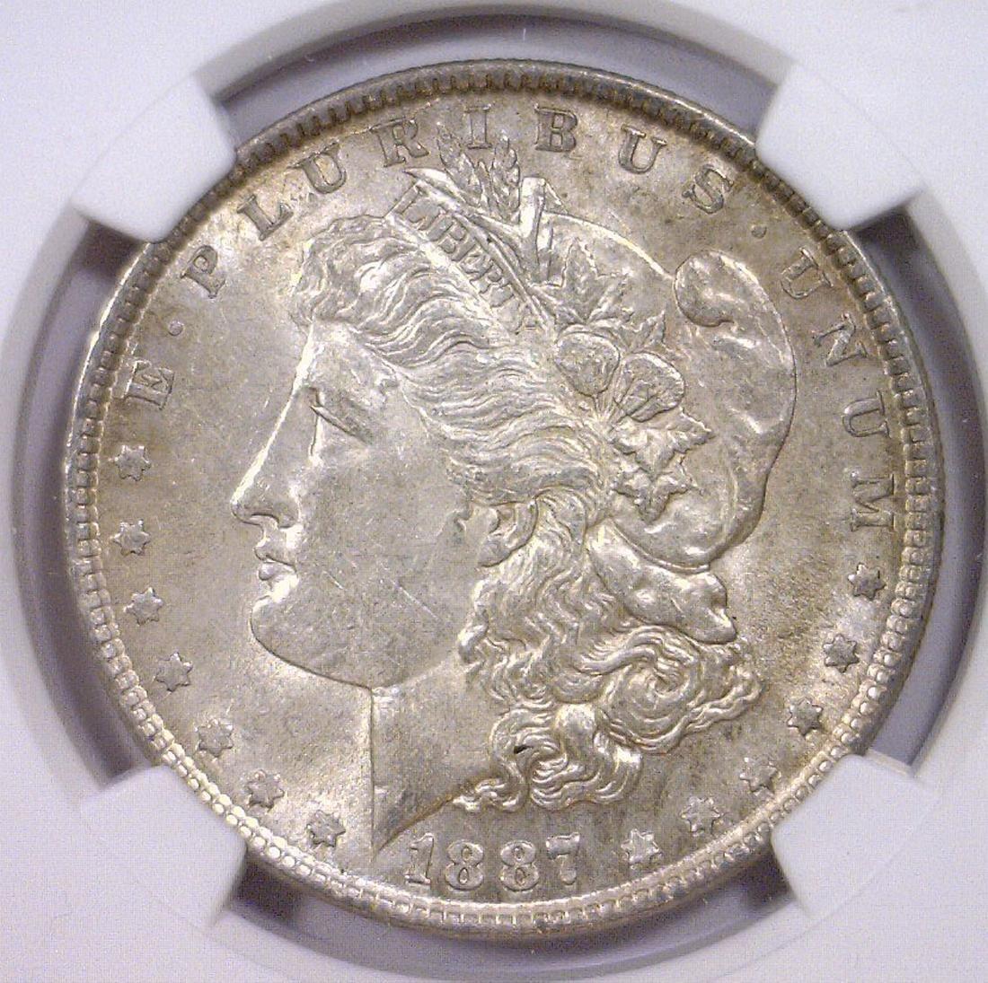 1887 Morgan Silver Dollar NGC AU58