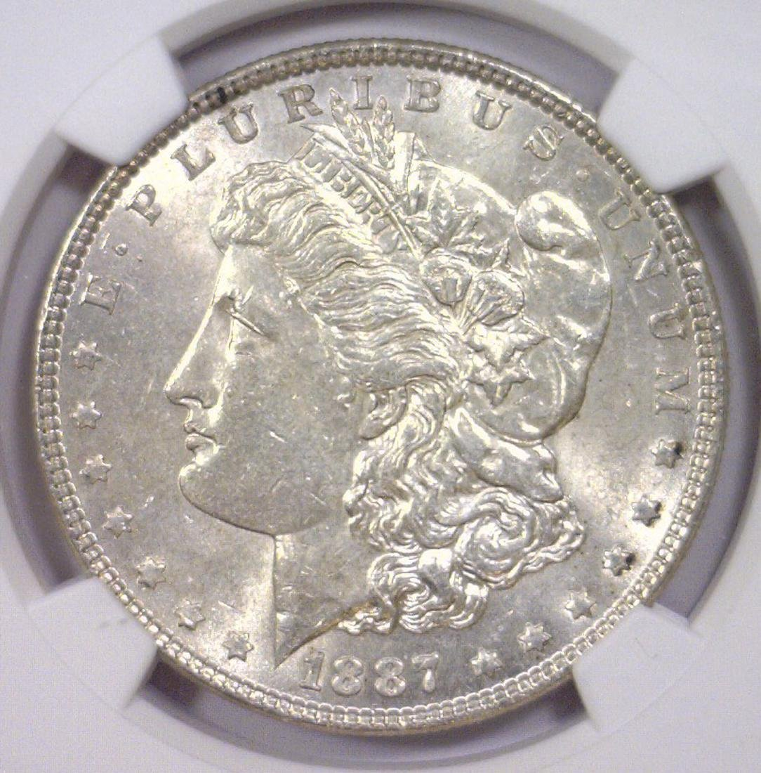 1887 Morgan Silver Dollar NGC MS61