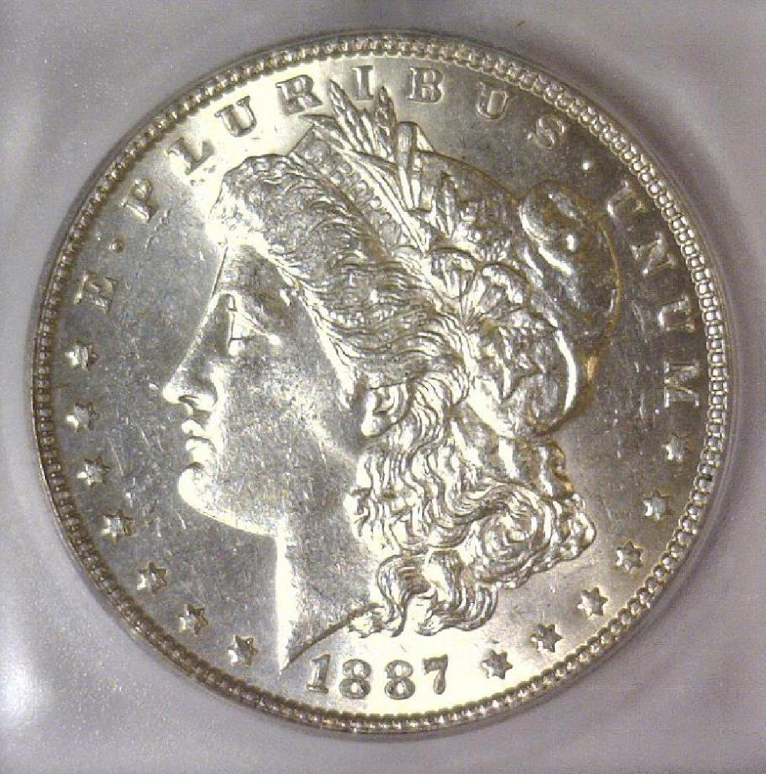 1887 Morgan Silver Dollar ICG MS63