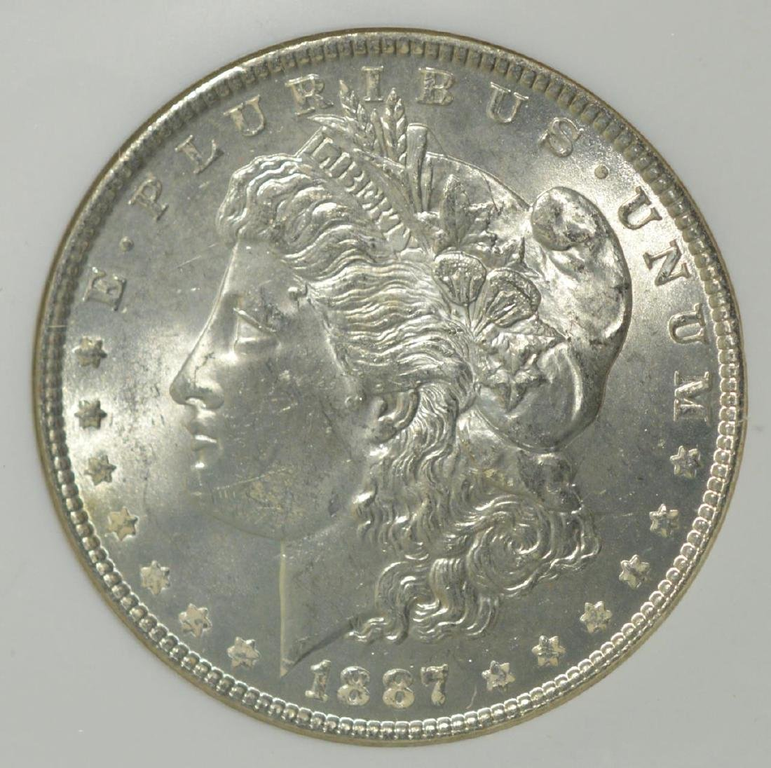 1887 Morgan Silver Dollar NGC MS 63
