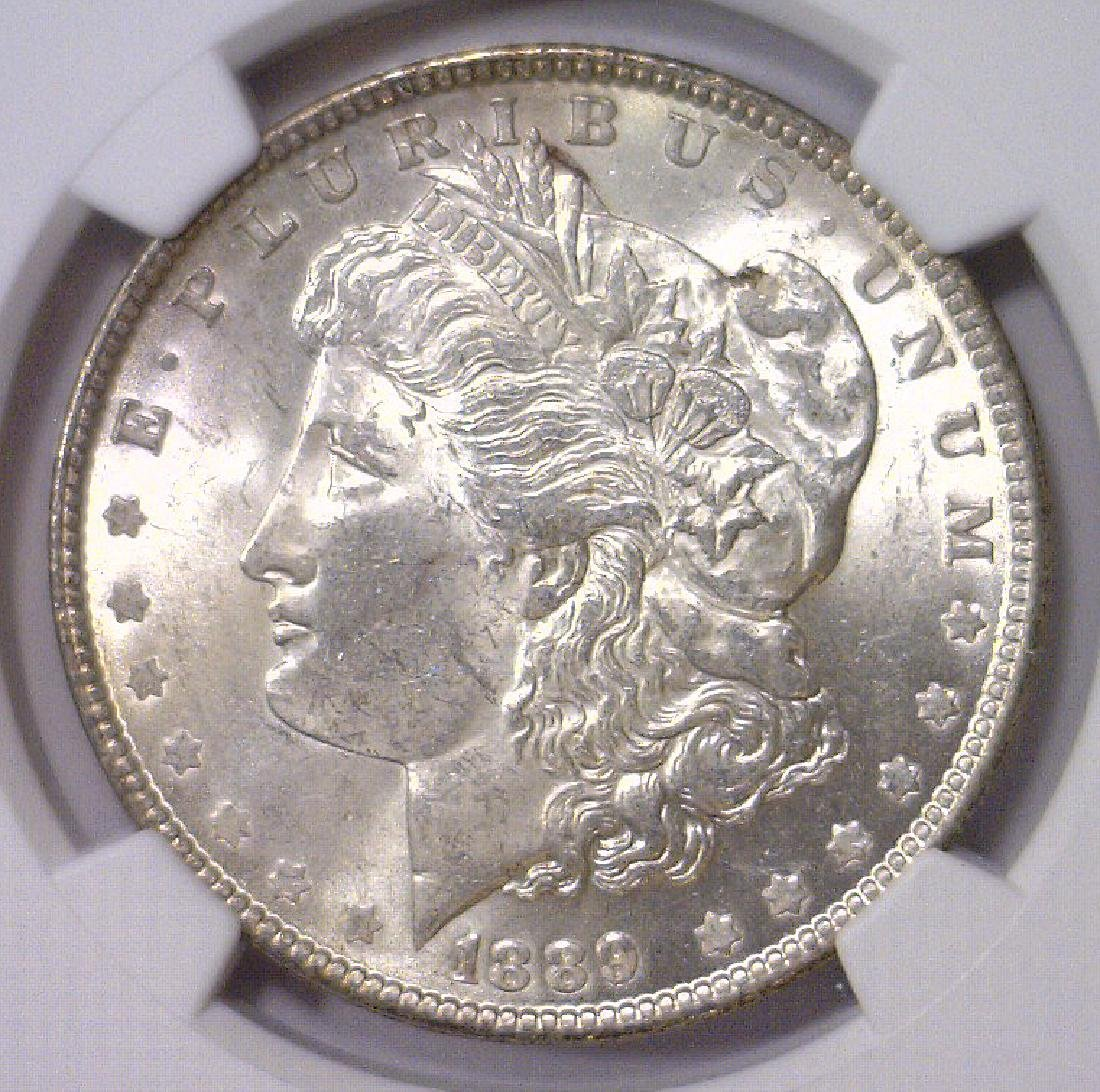 1889 Morgan Silver Dollar NGC MS63