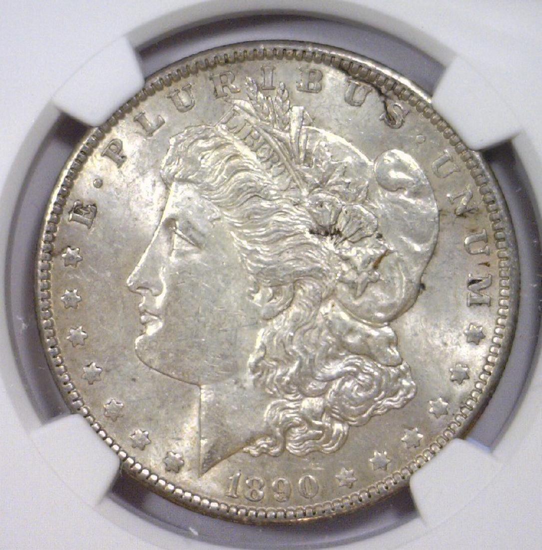 1890 Morgan Silver Dollar NGC AU58