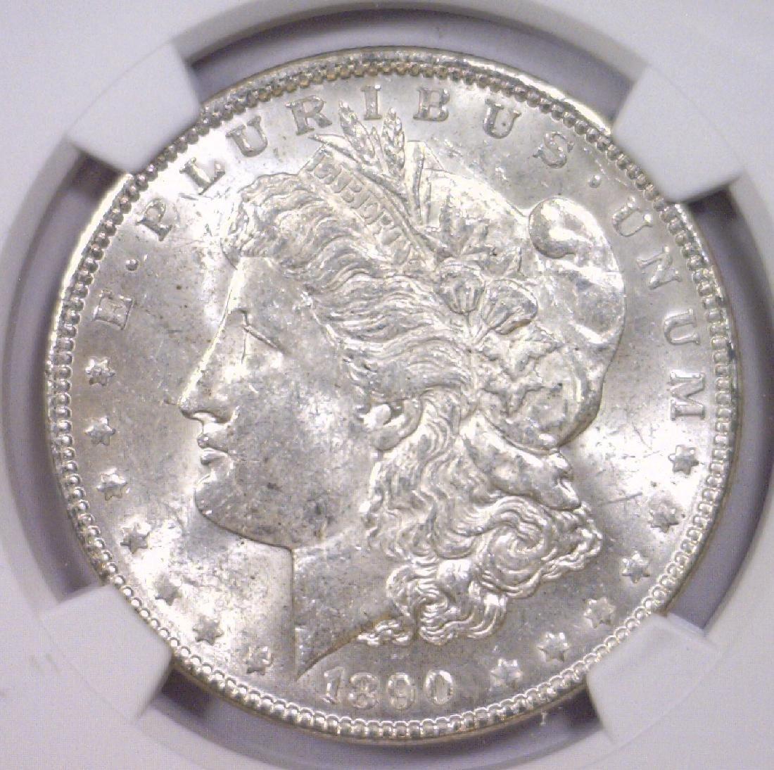 1890 Morgan Silver Dollar NGC MS60