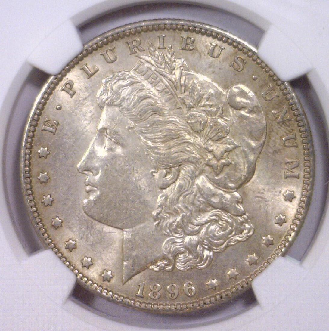 1896 Morgan Silver Dollar NGC AU58