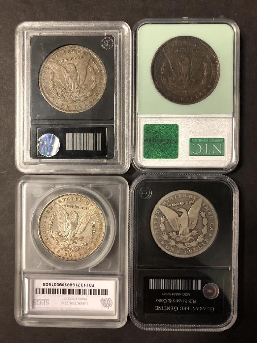 Lot of 4 Morgan Dollars 1881-S 1892 1897-S 1899-O - 2