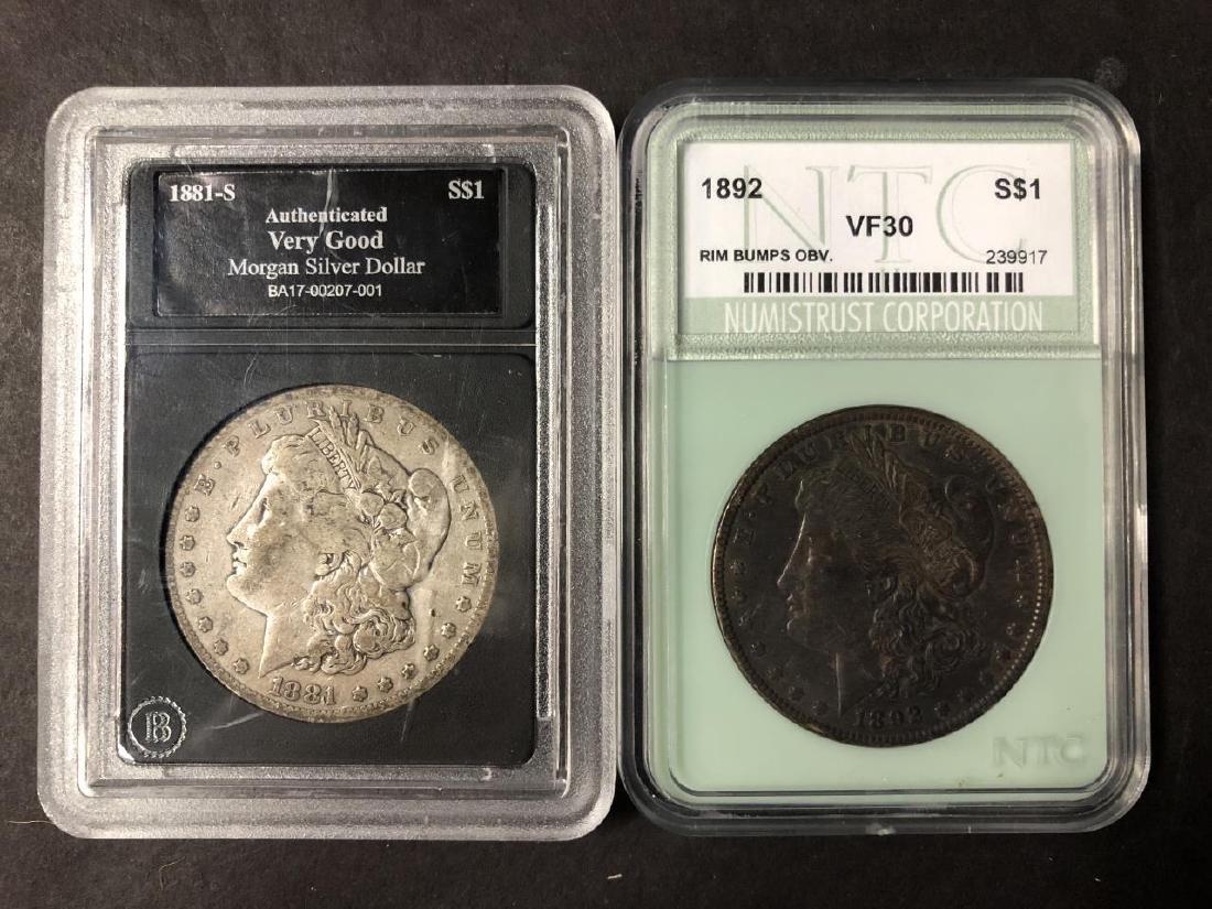 Lot of 4 Morgan Dollars 1881-S 1892 1897-S 1899-O - 3