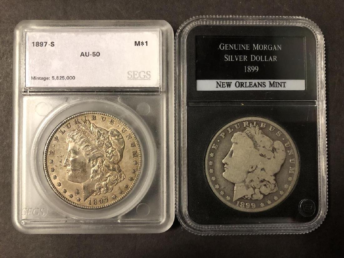 Lot of 4 Morgan Dollars 1881-S 1892 1897-S 1899-O - 5