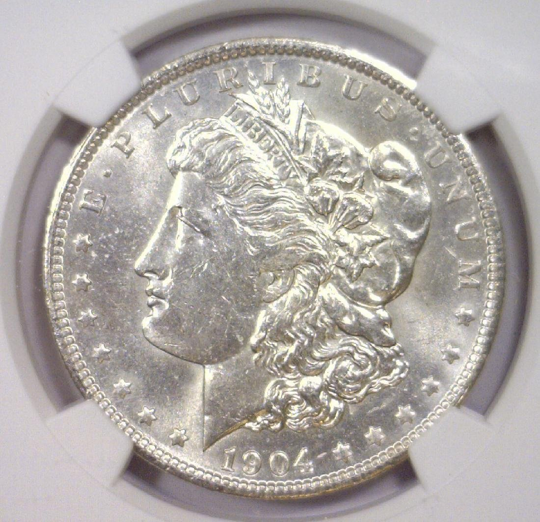 1904-O Morgan Silver Dollar NGC MS62