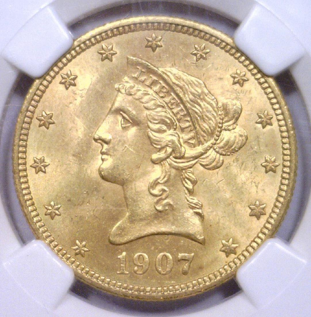 1907 $10 Liberty Head Gold Eagle NGC MS64