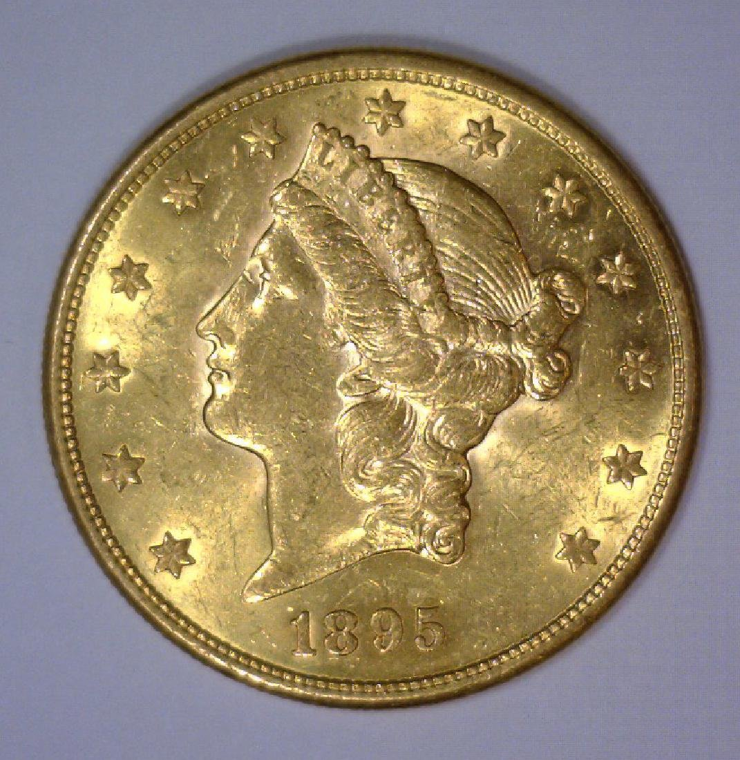 1895-S $20 Liberty Head Gold Double Eagle BU UNC