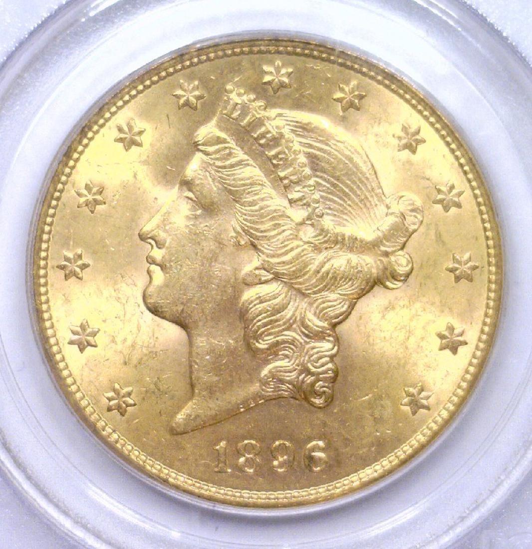 1896-S $20 Liberty Head Double Eagle PCGS MS63