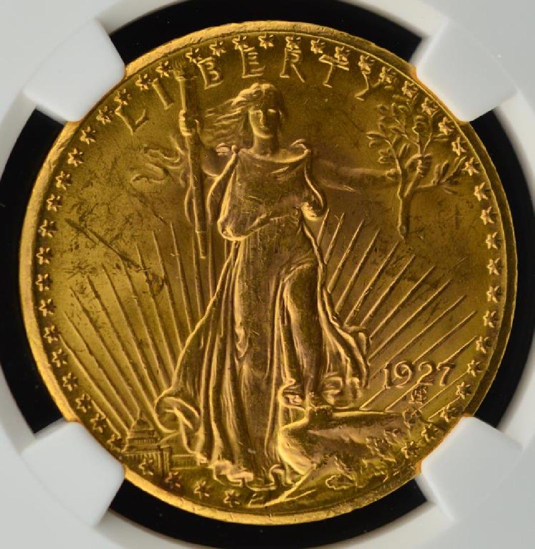 1927 $20 Saint Gaudens Gold Double Eagle NGC MS 62