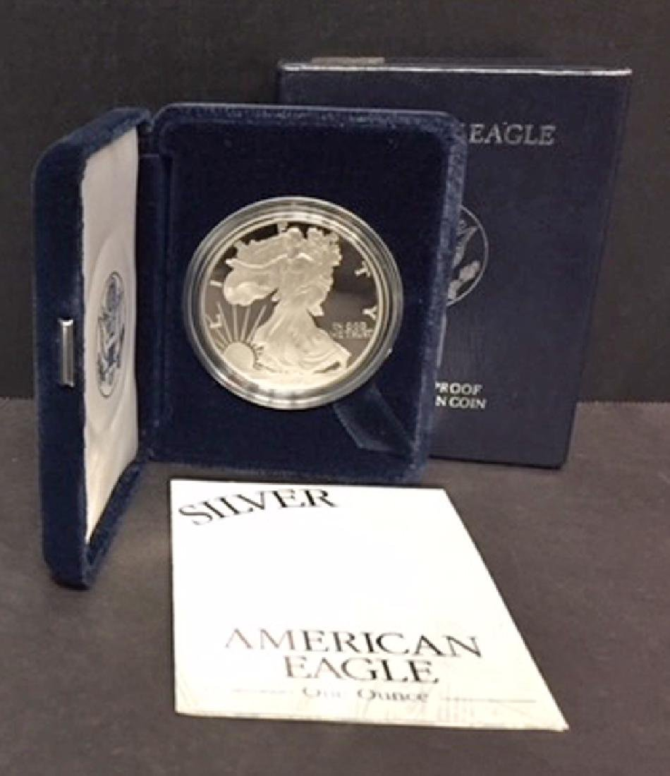 1996 Silver American Proof Eagle with Box & COA