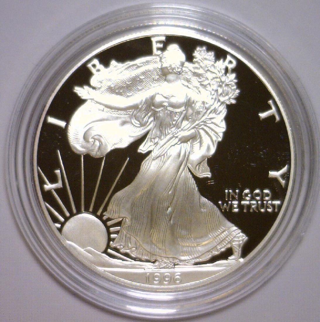 1996 Silver American Proof Eagle with Box & COA - 2