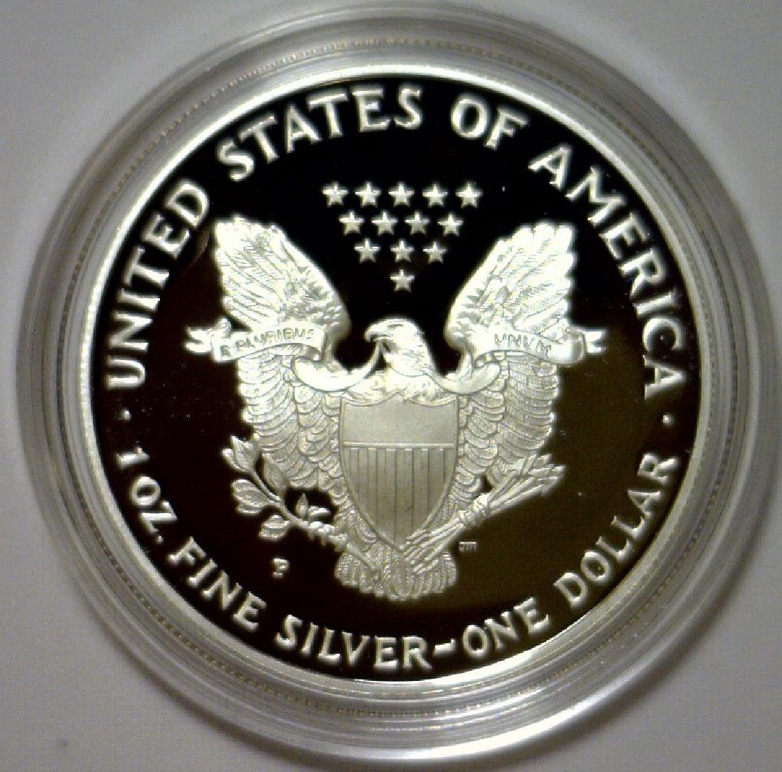 1996 Silver American Proof Eagle with Box & COA - 3
