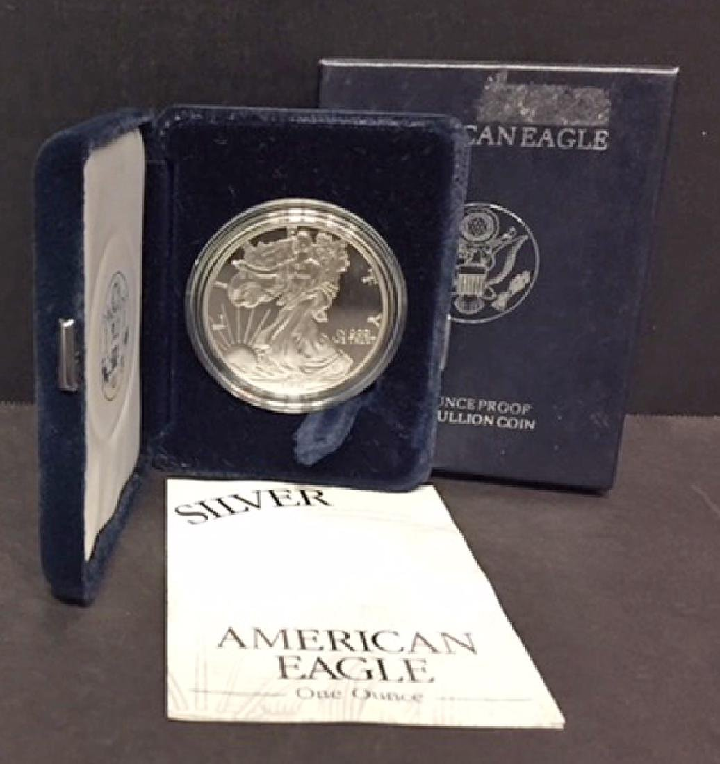 1997 Silver American Proof Eagle with Box & COA