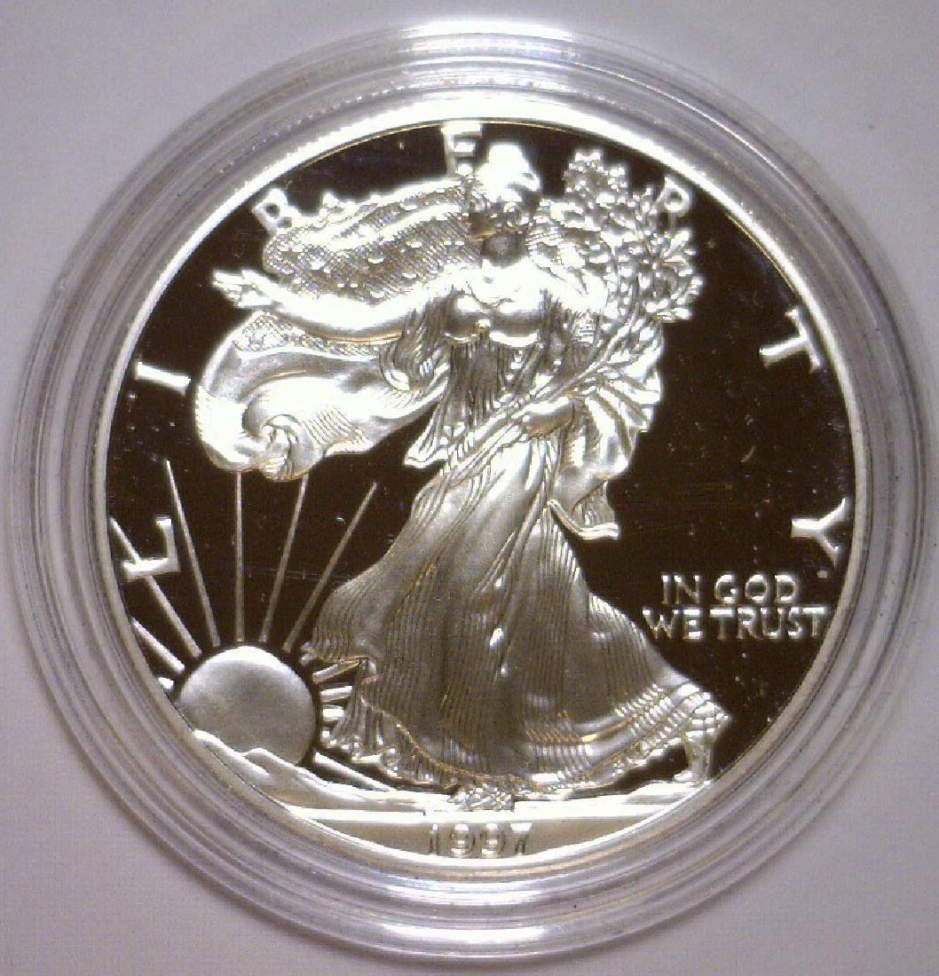 1997 Silver American Proof Eagle with Box & COA - 2
