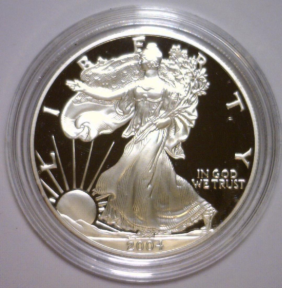 2004 Silver American Proof Eagle with Box & COA - 2