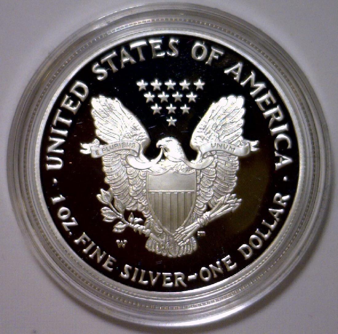 2004 Silver American Proof Eagle with Box & COA - 3