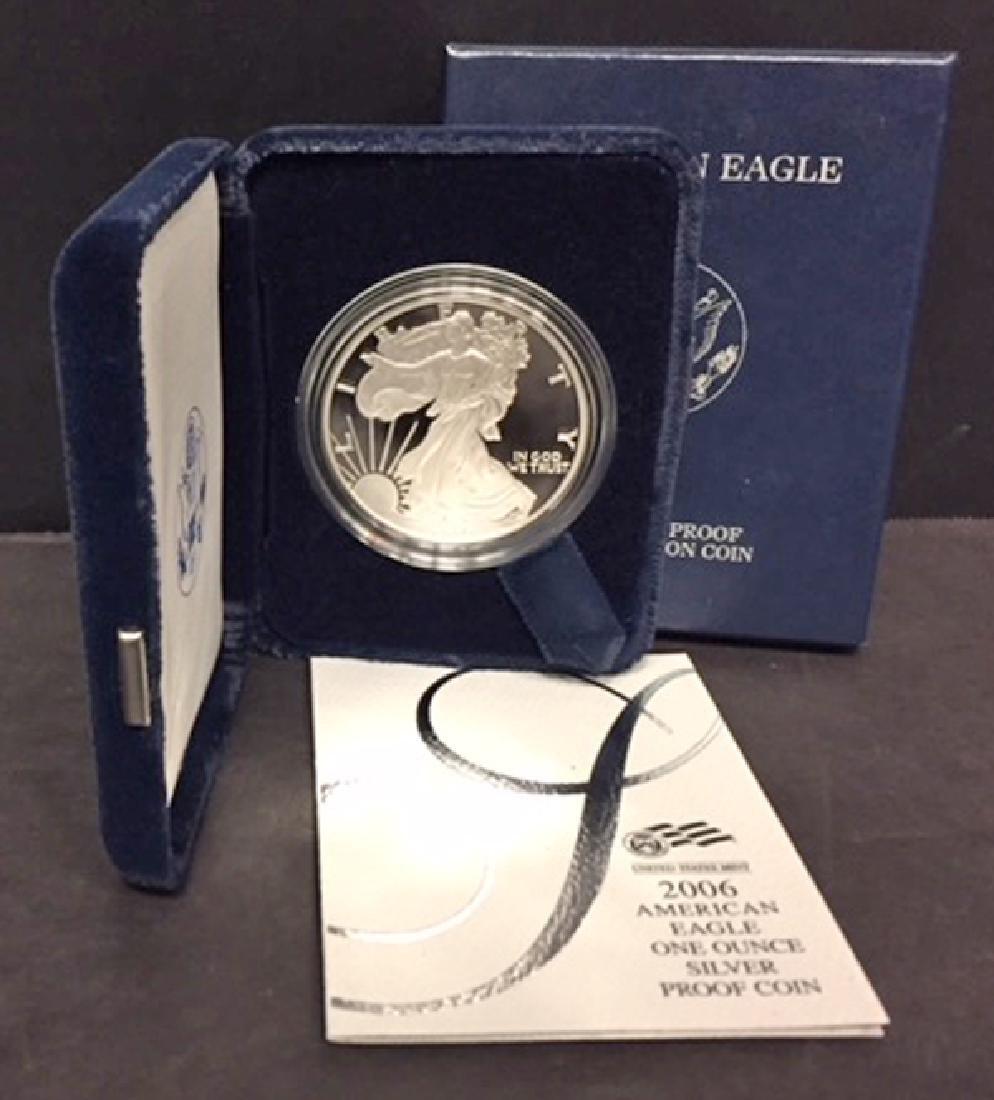 2006 Silver American Proof Eagle with Box & COA