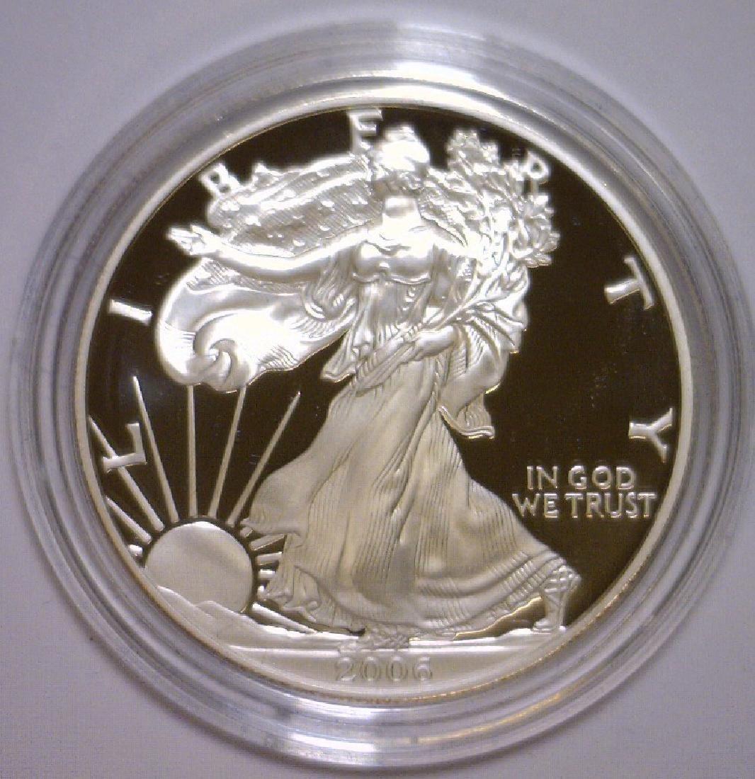 2006 Silver American Proof Eagle with Box & COA - 2
