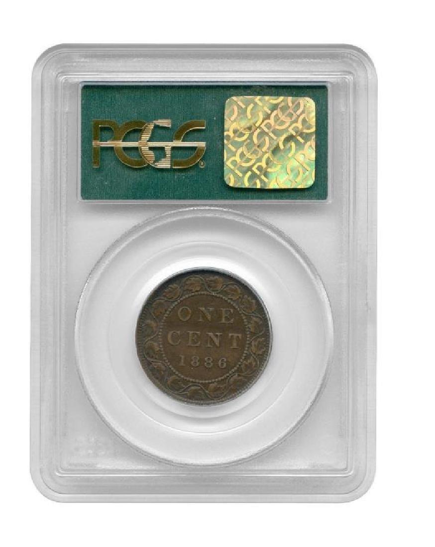 1886 Large Cent CANADA Victoria OGH PCGS AU53 - 2
