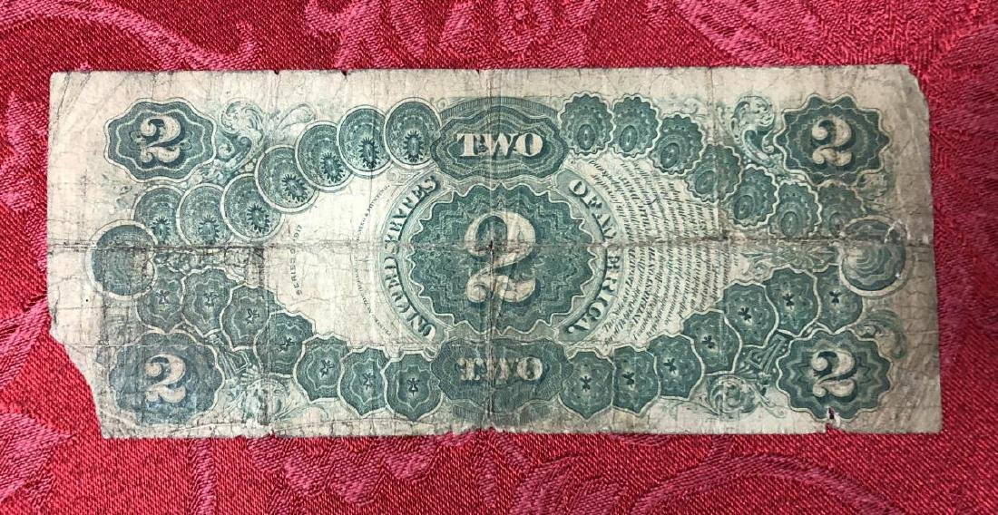 Series 1917 $2 United States Note Circulated - 2