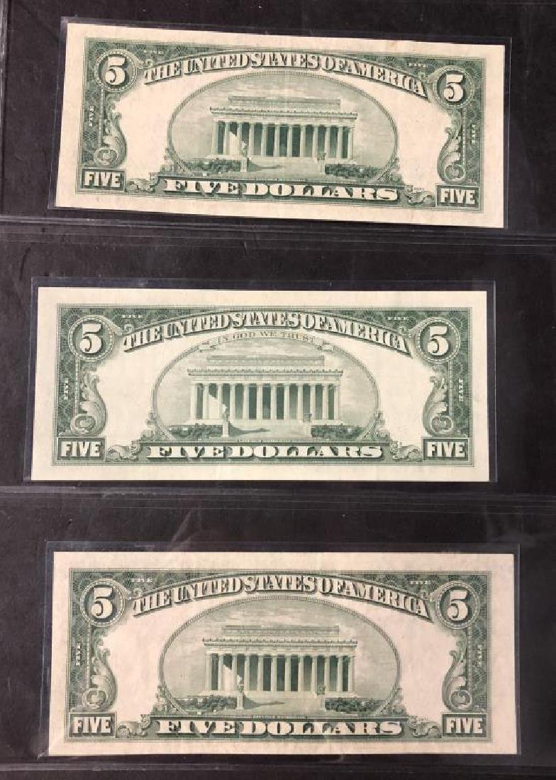 Lot of 3 $5 Legal Tender Notes 1953 BC 1963 XF-UNC - 2