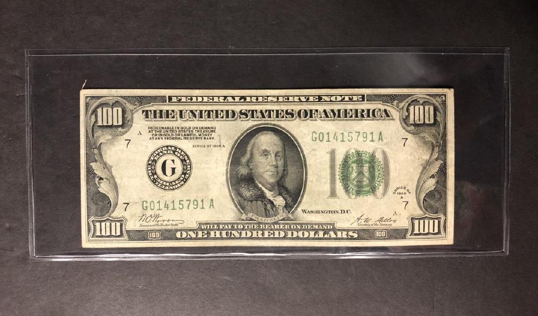 1928-A $100 Federal Reserve Note FRN F/VF