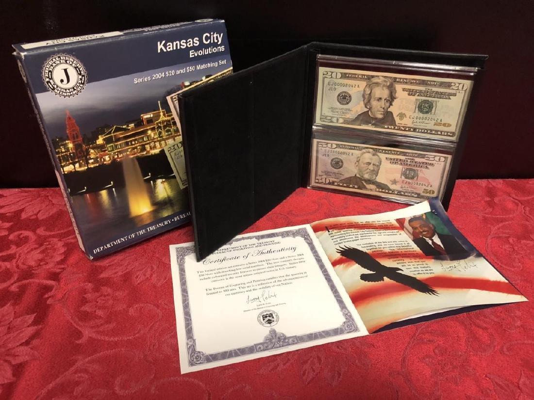 BEP Kansas City Evolutions $50 & $20 Matching #'s